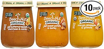 Beech-Nut Organic Stage 3 Baby Food Variety Pack, 4.25 Ounce (Pack of