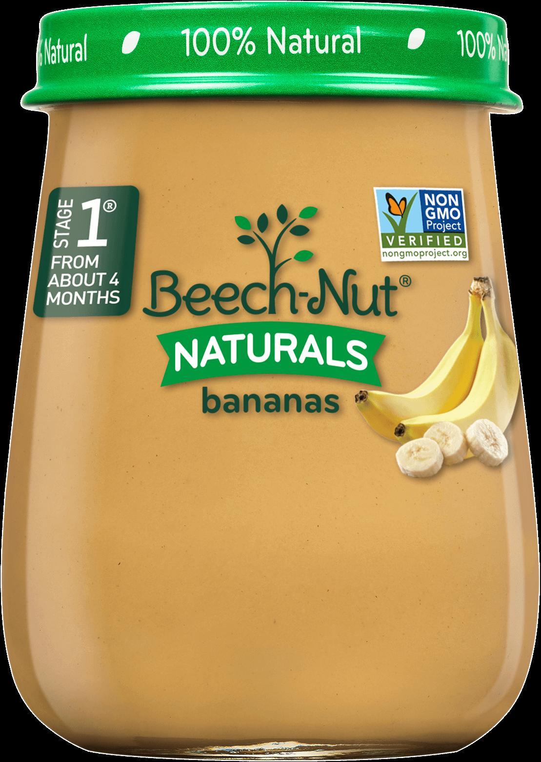 naturals bananas jar