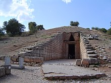 Dromos entrance to the Treasury of Atreus