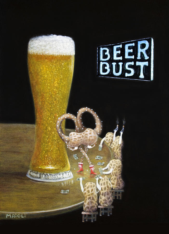 Beer Painting - Beer Bust by Andrew Maioli
