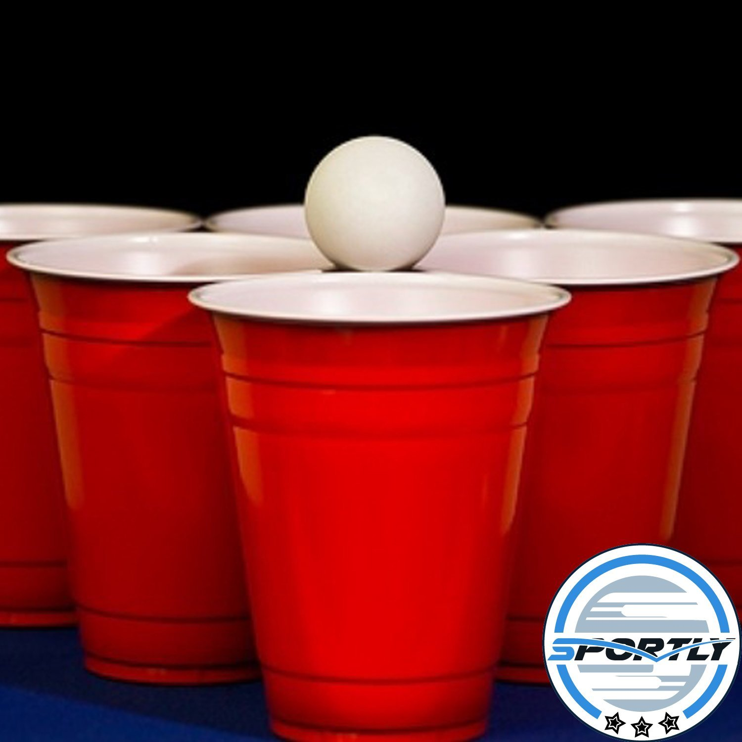 Beer Pong Balls, 48 pack, 38mm, Great for Table Tennis & Ping Pong  Tournaments, Carnival Games, Parties, By Sportly