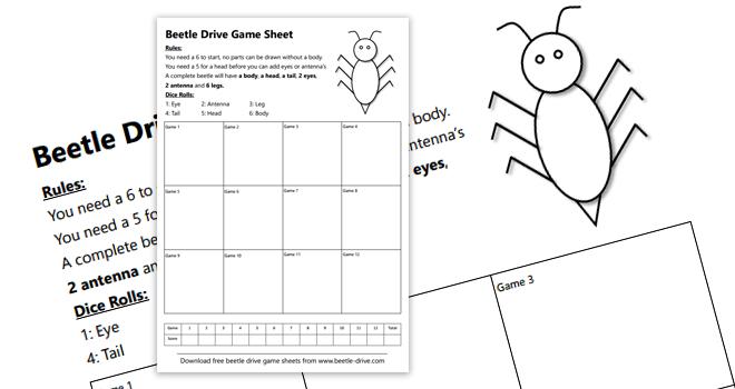 Beetle Drive Sheets FREE Downloads