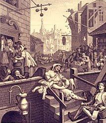 Gin Lane by Hogarth