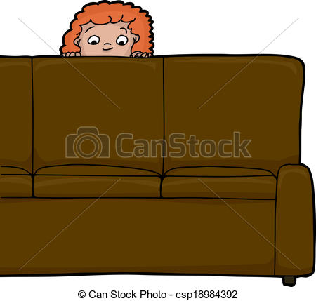 Child Behind Sofa - csp18984392