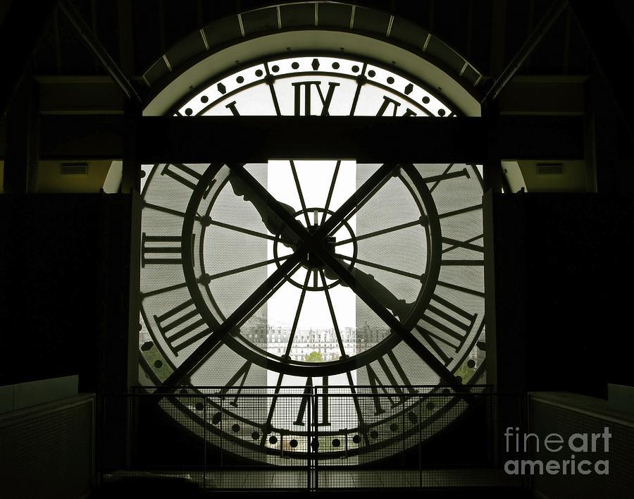 Clock Photograph - Behind Time by Ann Horn