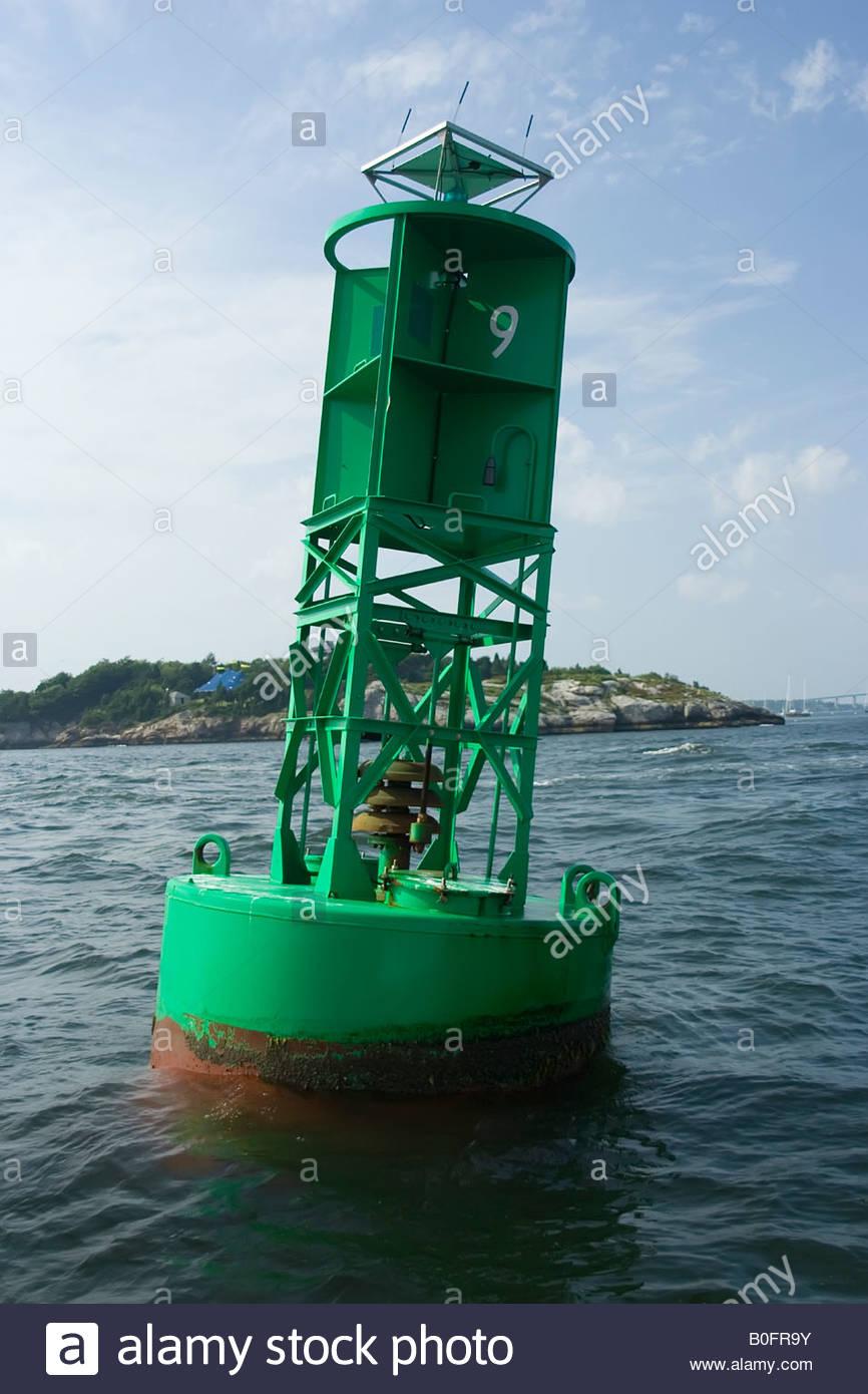 Foto de una boya de campana de navegación Imagen De Stock