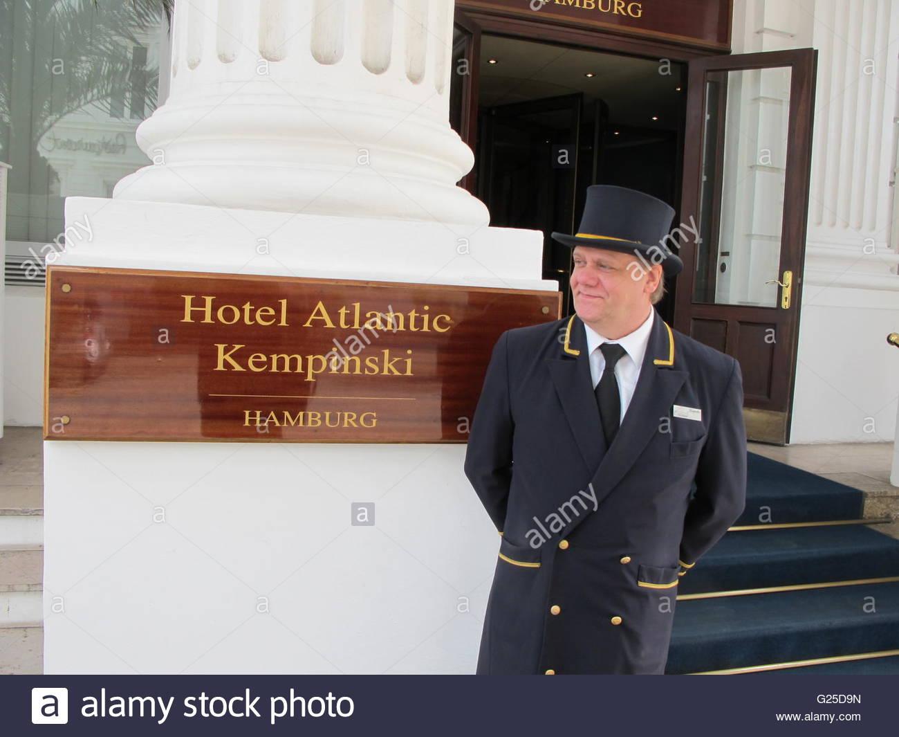 Germany - Hamburg, Hotel Atlantic - Stock Image
