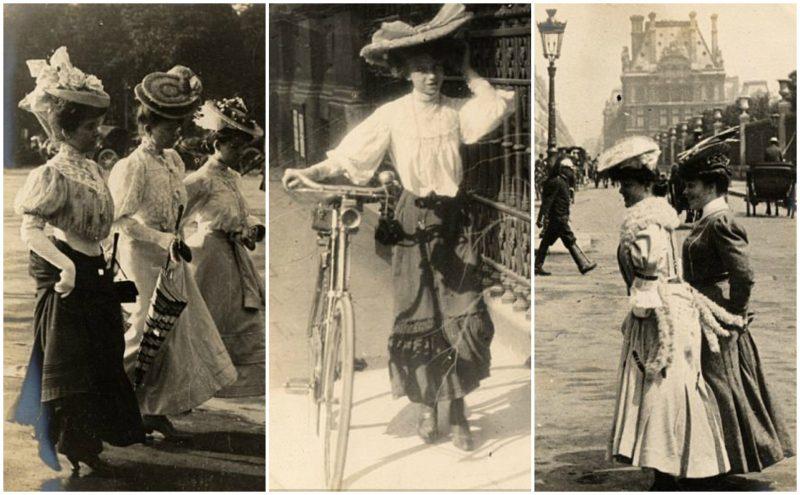 Belle Epoque Fashion- Vintage photos glimpse into Paris Street Fashion  Styles 1905 to 1908