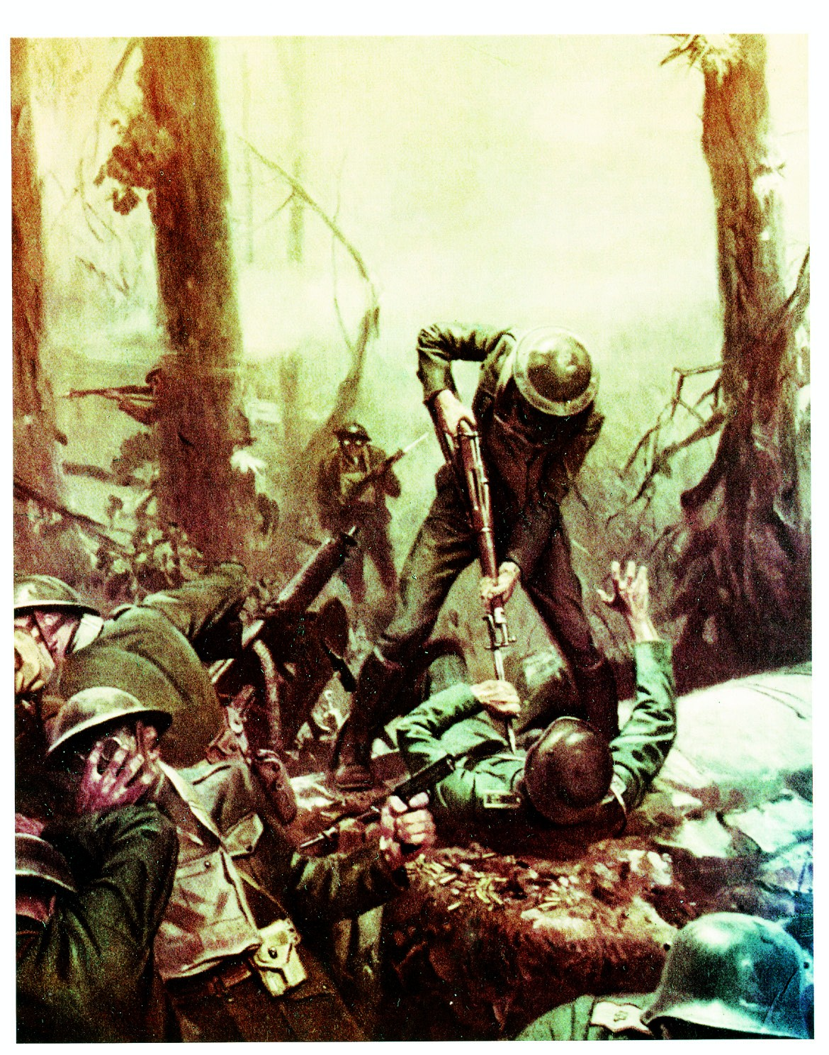 After decades of struggling for survival as a service, the advance of  marines into Belleau
