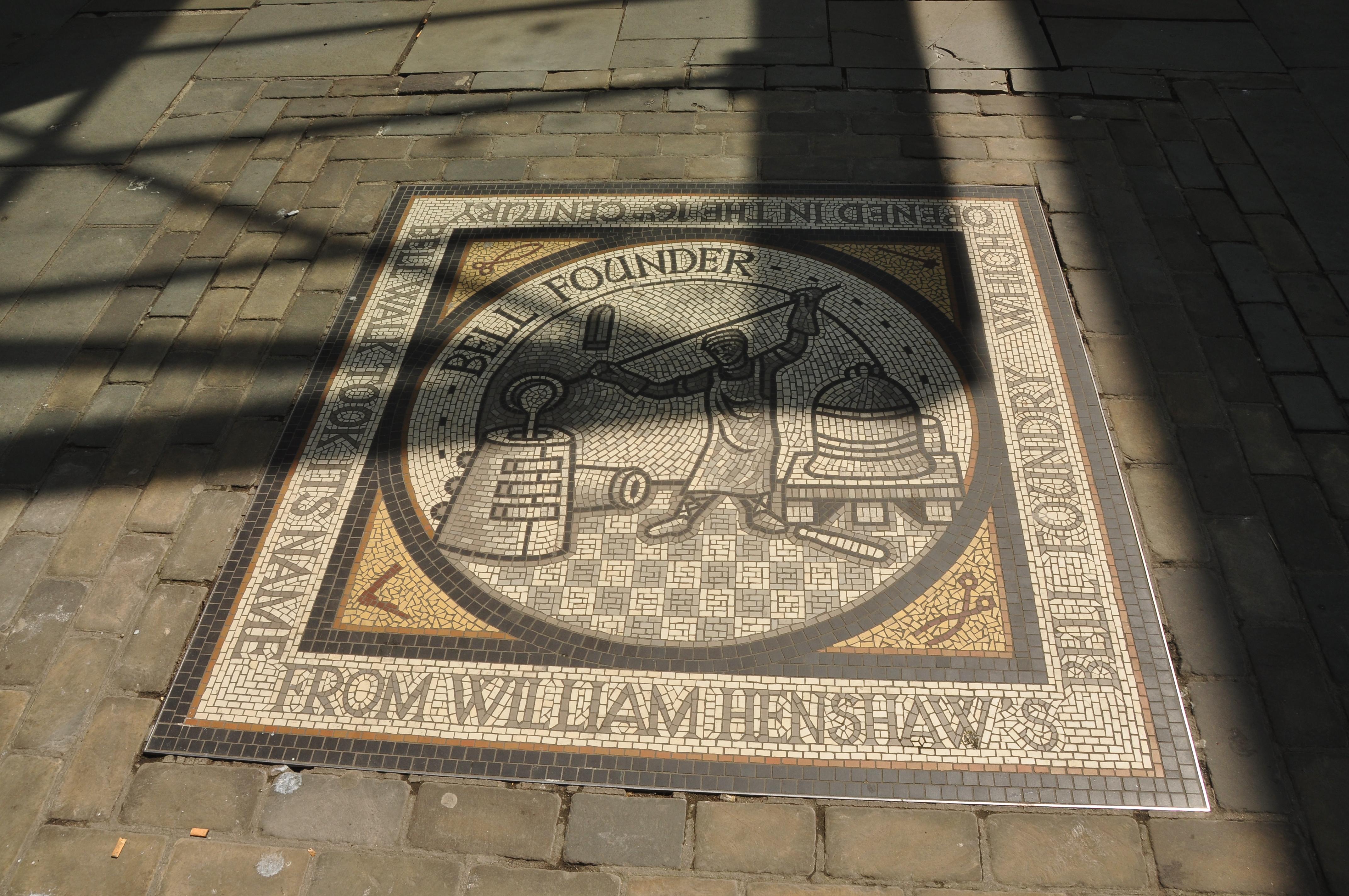 File:Bellfounder mosaic in Gloucester (3812).jpg