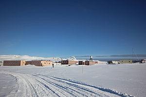Bellingshausen base in winter