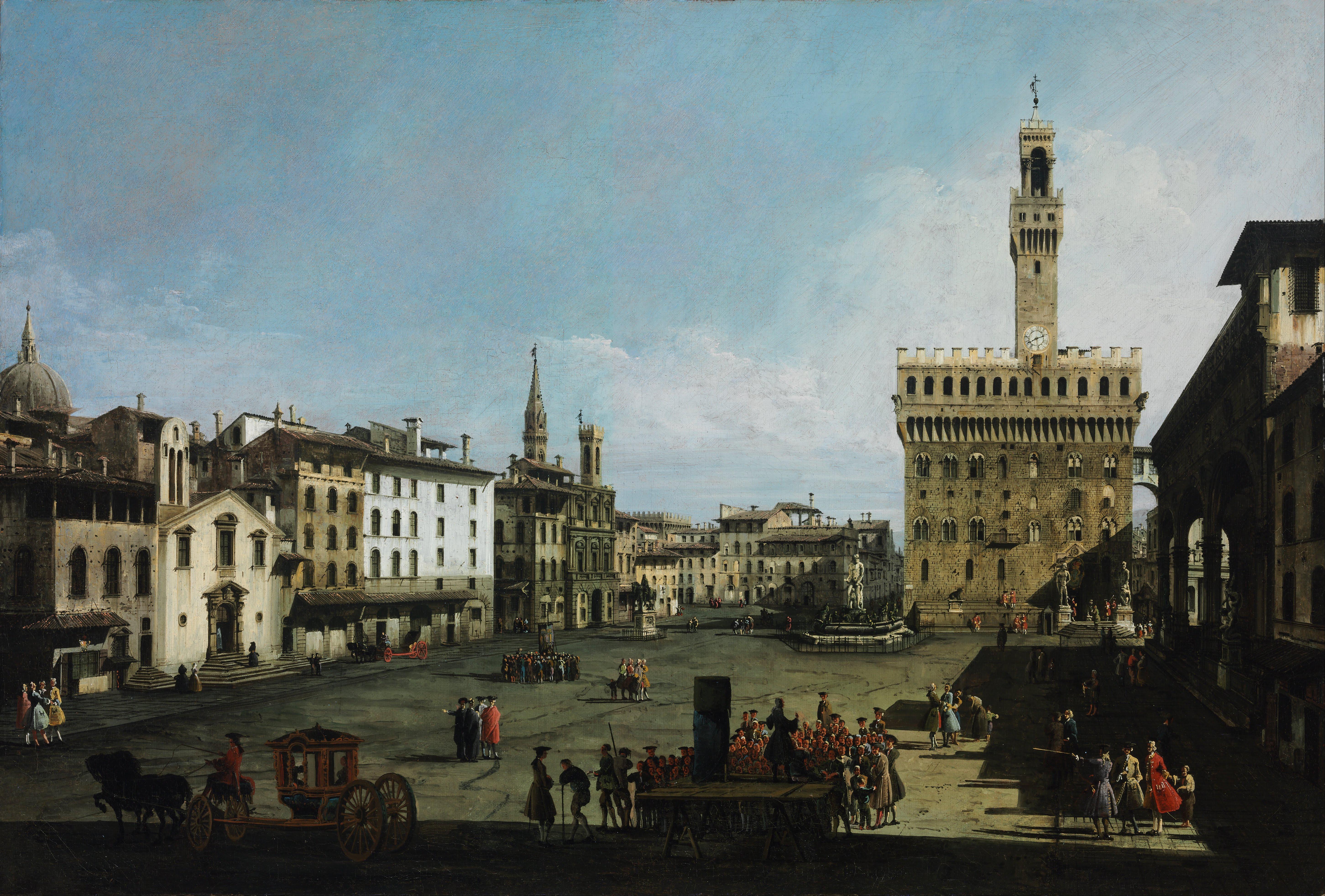 Archivo:Bernardo Bellotto - The Piazza della Signoria in Florence - Google  Art Project.