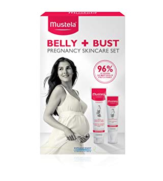 Mustela Belly and Bust Set, Pregnancy and Postpartum Skincare Set with Bust  Firming Serum and