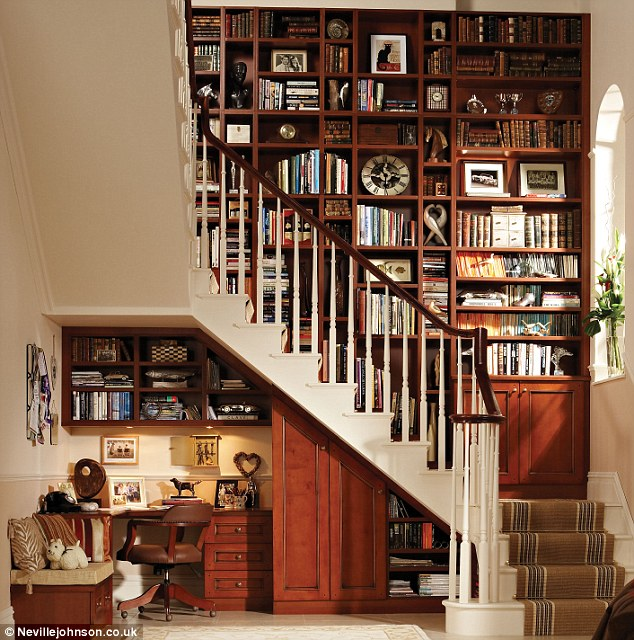 Made to fit: This design by Neville Johnson transforms the space into a  study and