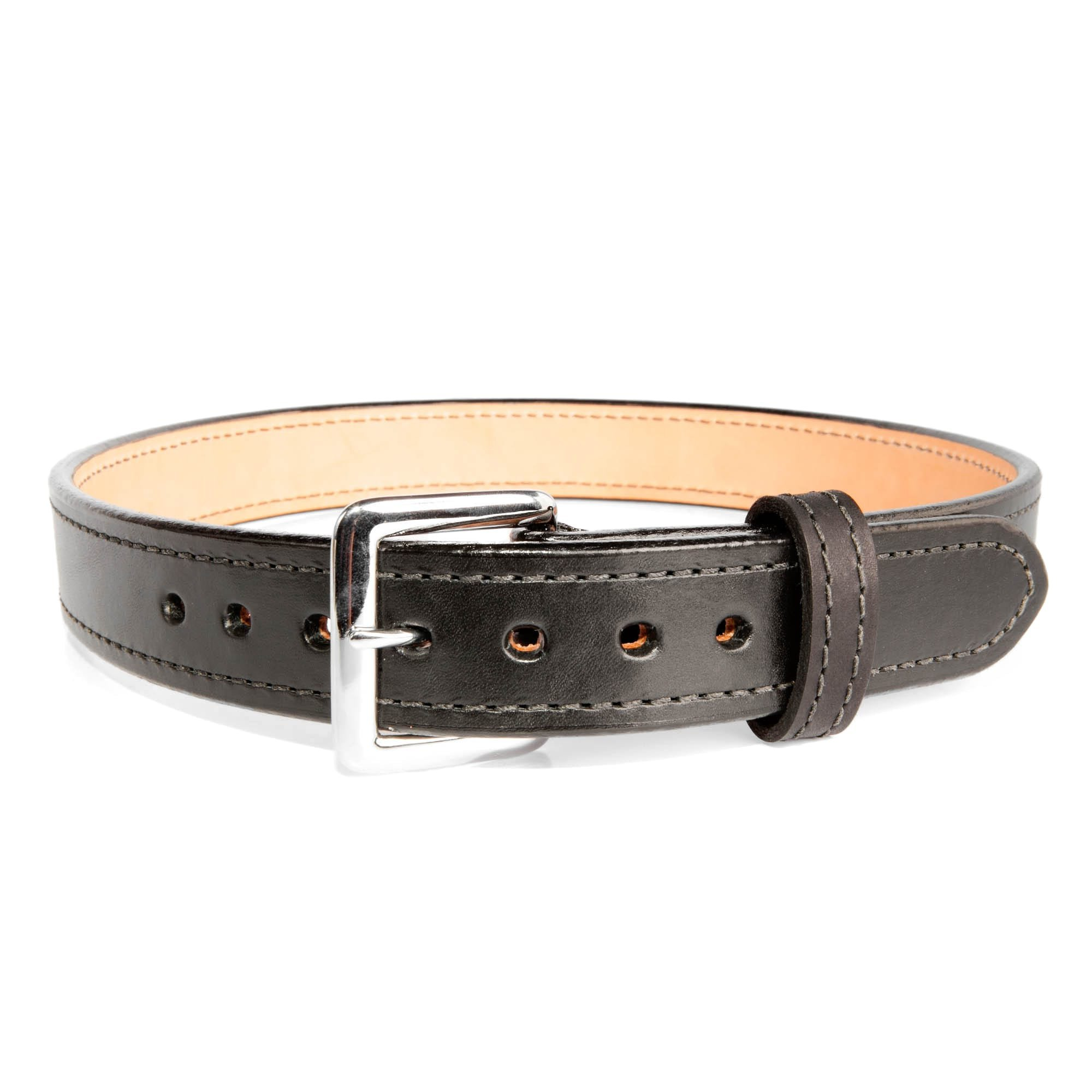 "QUICK SHIP Black 1.5"" Bullhide Concealed Carry Gun Belt By Beltman With  Square Chrome Buckle"