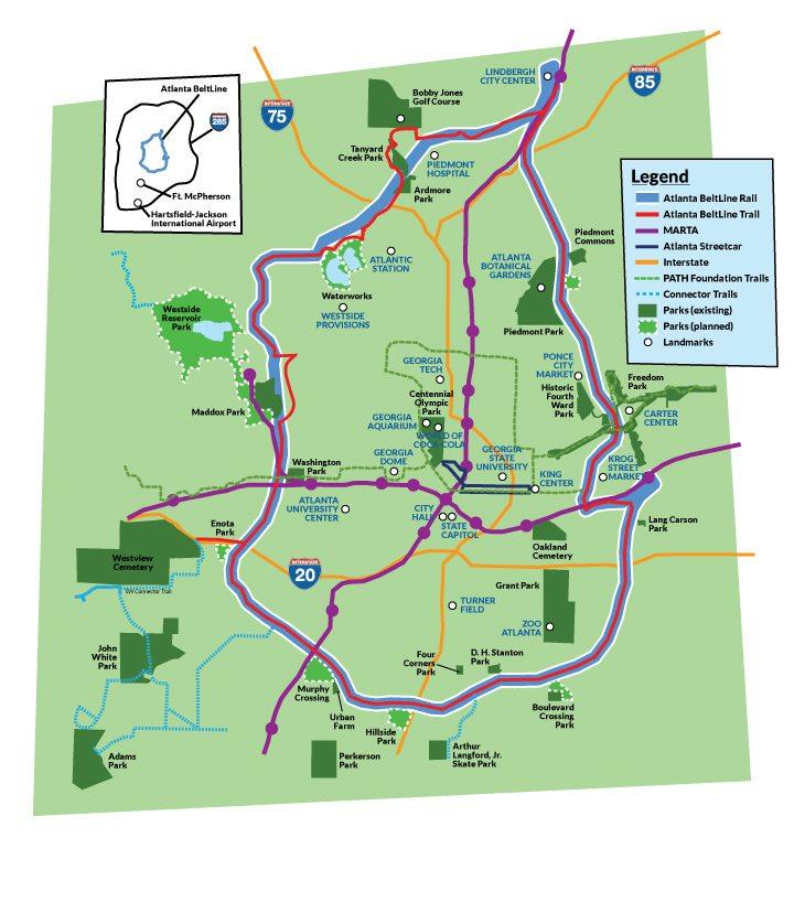 Atlanta BeltLine overview map