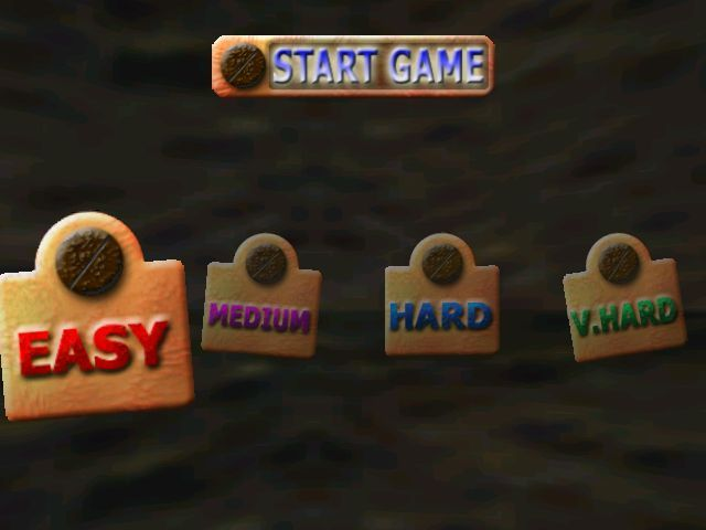 BemazeD Windows The player selects from four levels of difficulty that  swing from rusty nails.
