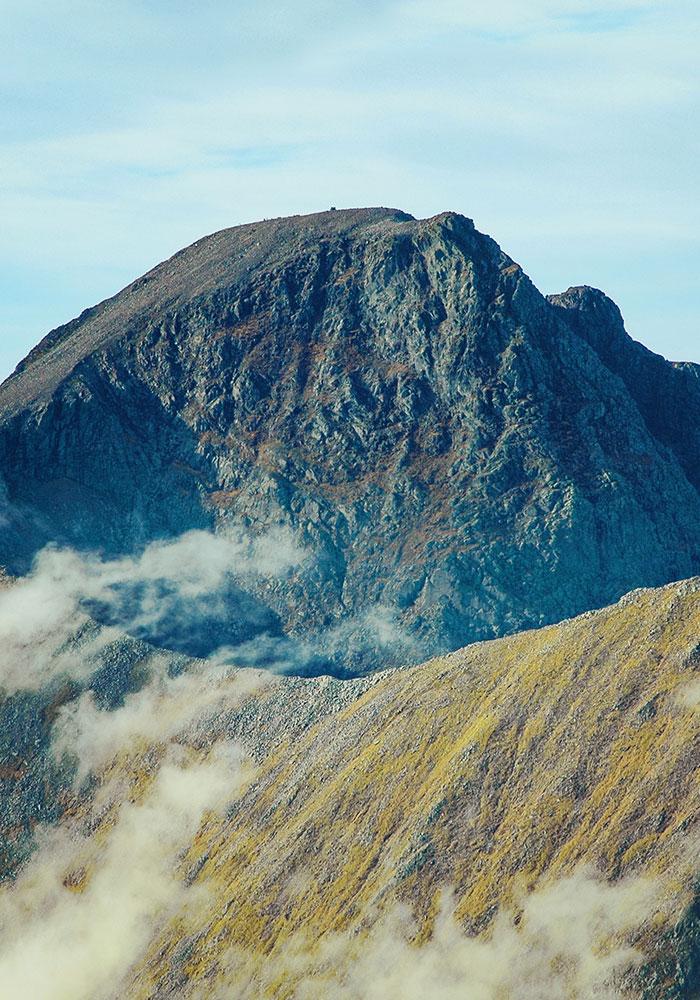The top of Ben Nevis, Scotland