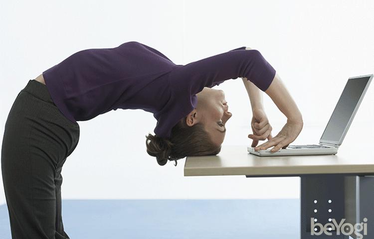 bend over backwards for yoga