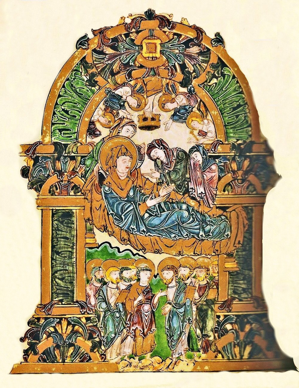 Benedictional of St Æthelwold of Winchester. circa 975 » Unknown Artist.  The Assumption of the Mother of God. Benedictional of St Aethelwold  (English). c