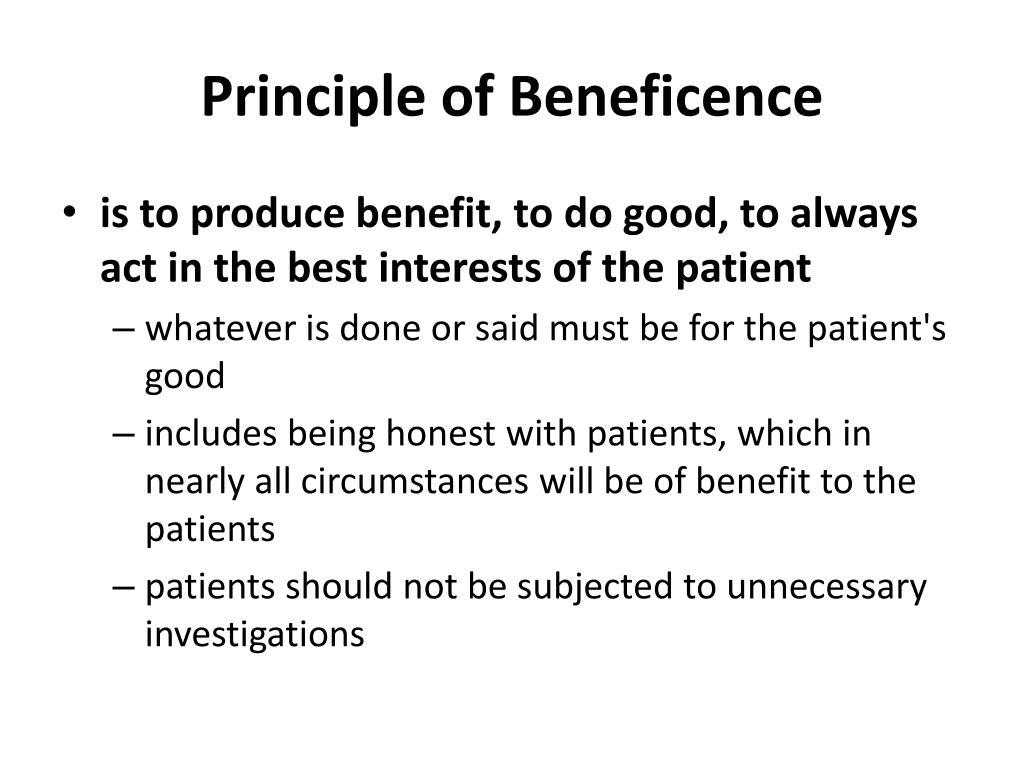 principle of beneficence n.