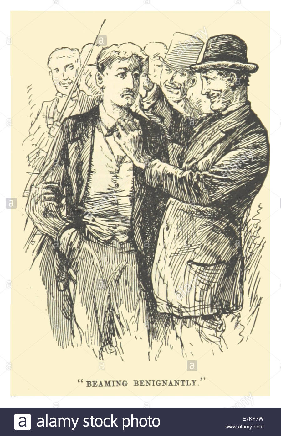 MARK TWAIN(1883) p221 - BEAMING BENIGNANTLY - Stock Image