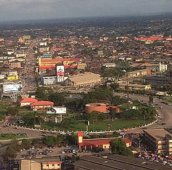 Aerial view of Benin City