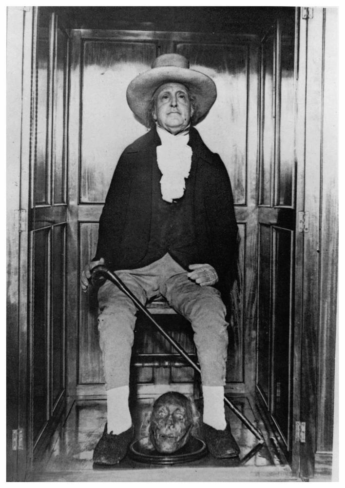 La momia de Jeremy Bentham.