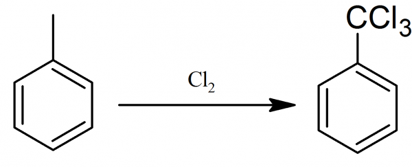 Preparation of benzotrichloride