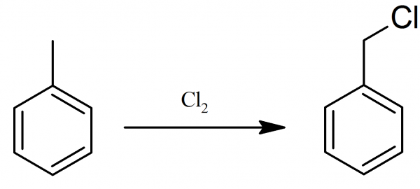Preparation of benzyl chloride