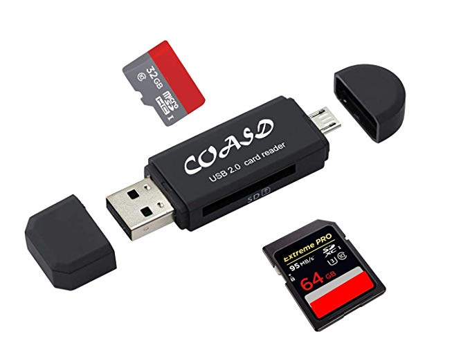 Traveller Location: COASD SD Card Reader/SD Card Adapter SD/Micro SD Card Reader/Micro  OTG/USB 2.0 Multi-Function Card Reader/Writer for PC & Laptop & Smart  Phones