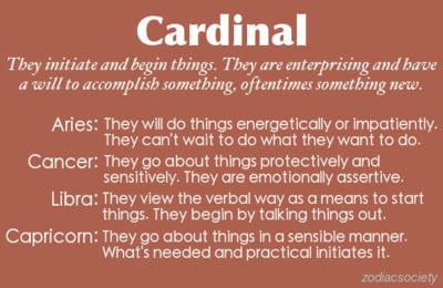Cardinal Signs: Aries, Cancer, Libra, and Capricorn | Zodiac Society