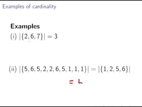 Cardinality of Sets (Discrete Maths : Set Theory)