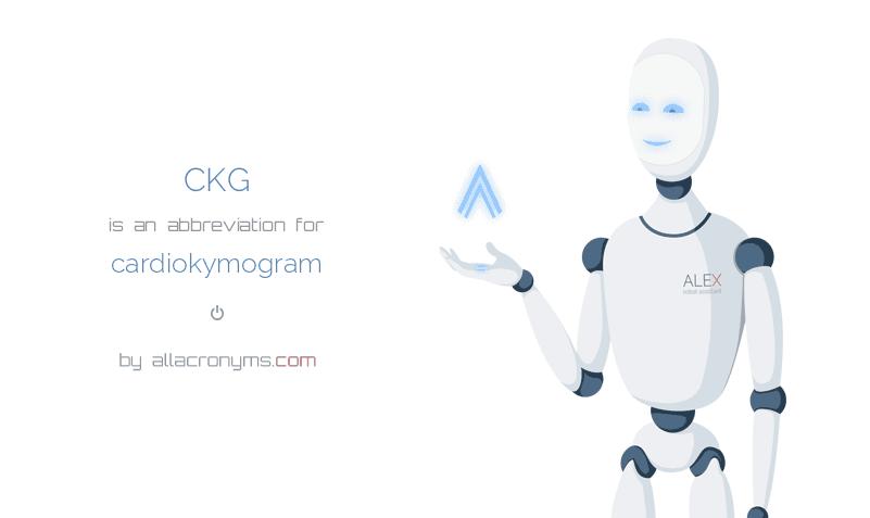 CKGmeanscardiokymogram