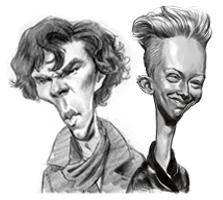 2-pack caricature