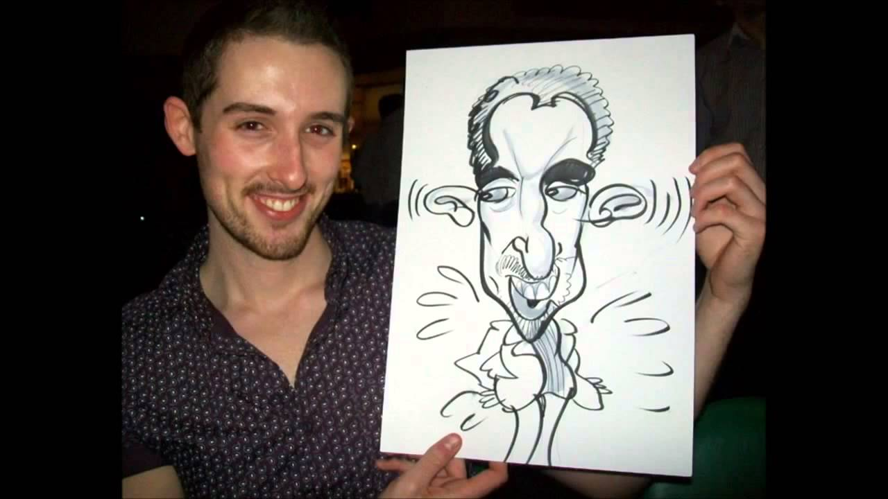 David G on the spot Caricaturist - Book a Caricaturist