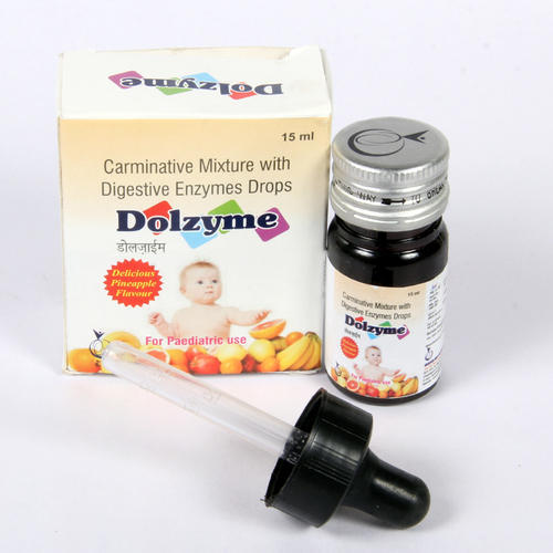 Dolzyme Carminative Mixture with Digestive Enzymes Drop, Packing Size: 15 mL