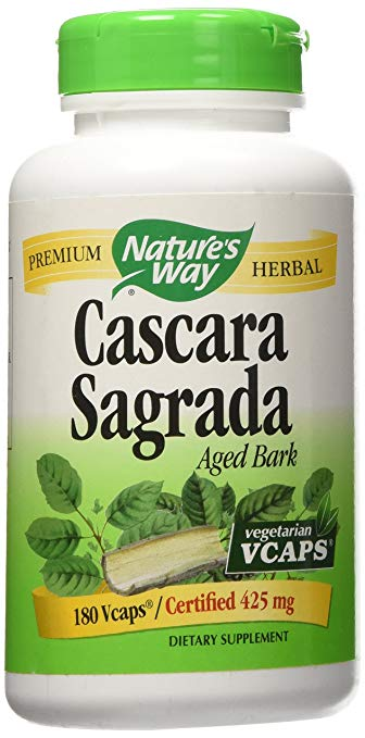 Natures Way Cascara Sagrada Bark 180 Vcaps