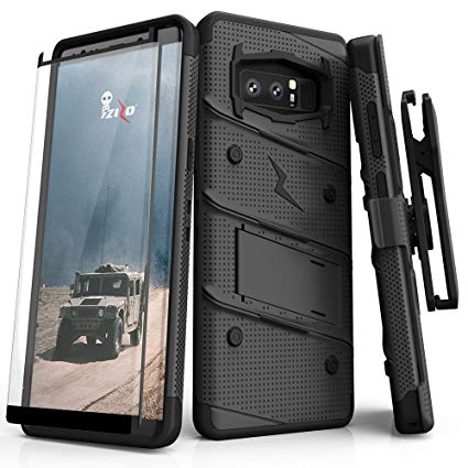 Zizo Bolt Series Compatible with Samsung Galaxy Note 8 Case Military Grade  Drop Tested with Tempered