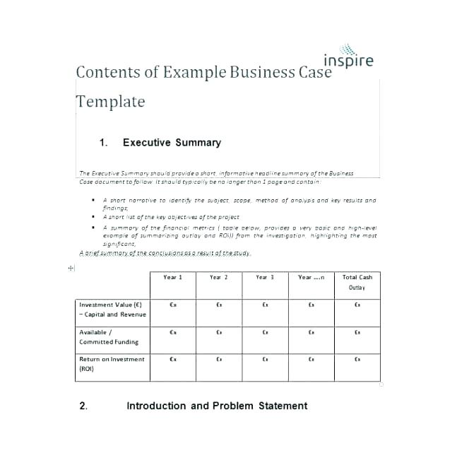 Simple Business Case Ate Necessary For Printable With Medium