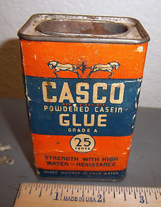 Image is loading VINTAGE-Casco-powdered-casein-glue-can-great-graphics-