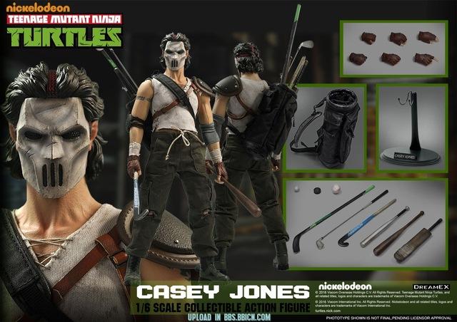 DreamEX 1/6 Ninja Serie Mask Man Casey Jones 12inch Collectible Action  Figure