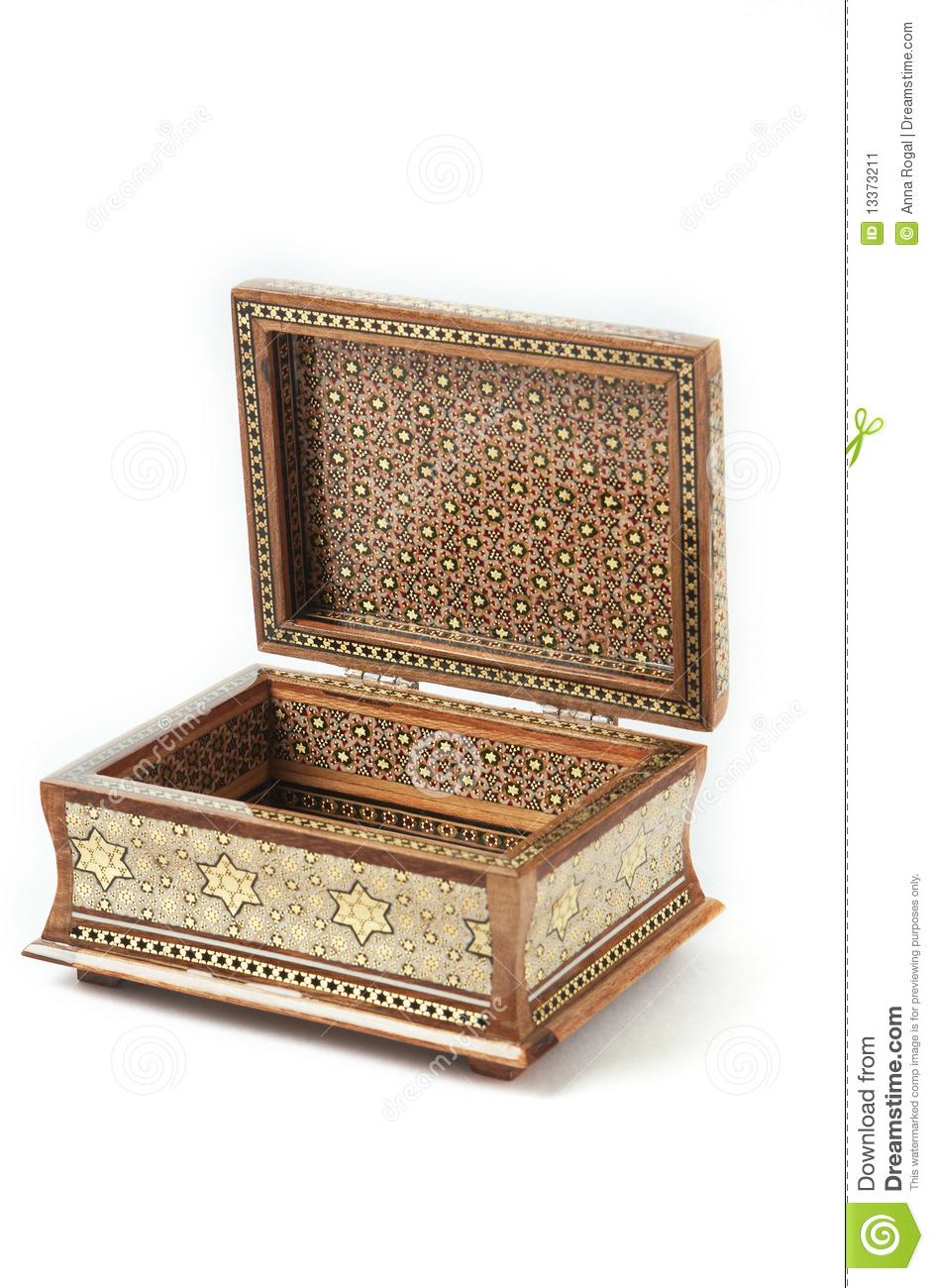 The opened khatam casked.