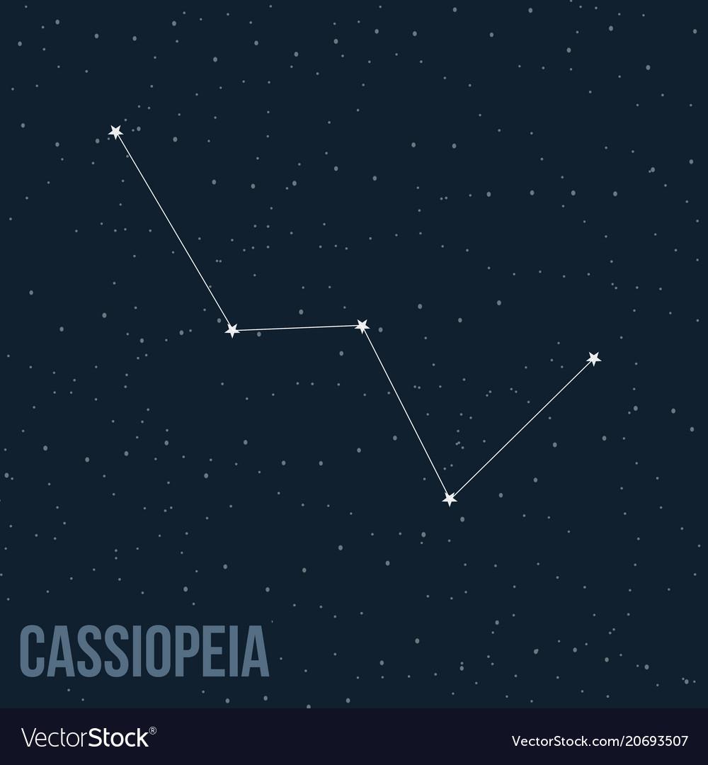 Constellation cassiopeia vector image