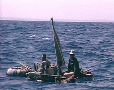 Cubans set out to sea aboard homemade rafts with hopes of reaching the U.S.  coast.