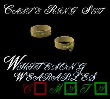 Caste Ring Set - Gold and Topaz