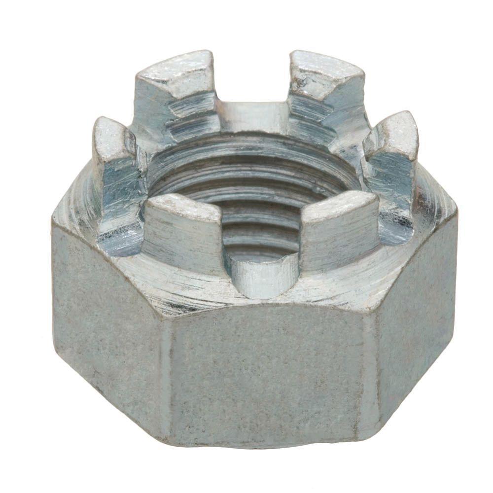 20 Zinc-Plated Fine Thread Castle Nut
