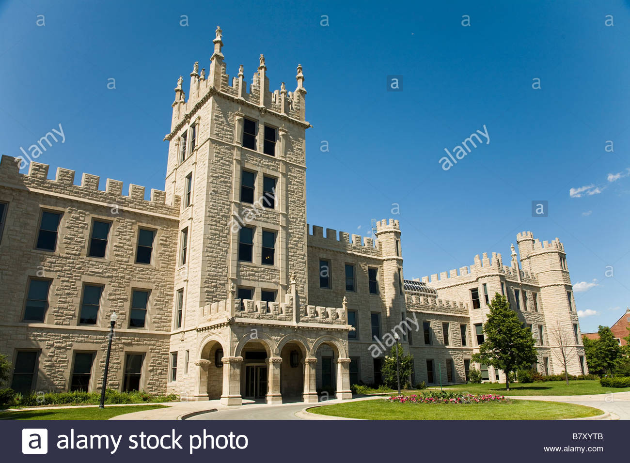 ILLINOIS DeKalb Altgeld Hall on campus of Northern Illinois University castle  like design
