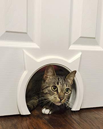 The Kitty Pass Interior Cat Door Hidden Litter Box Pet Door for cats up to  21