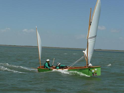 Goat island skiff sailing in the Texas 200.